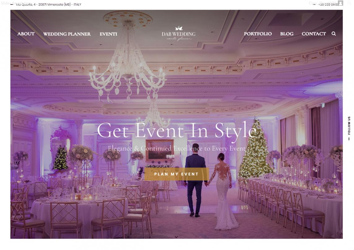 Il nuovo sito Dab Wedding Events è online!